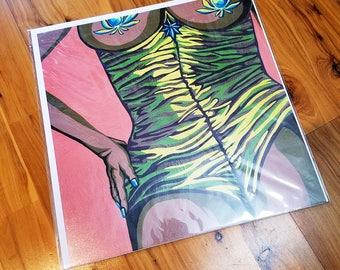 """Caroline"" Burlesque Cannabis Pin Up Print [open edition 12x12""]"