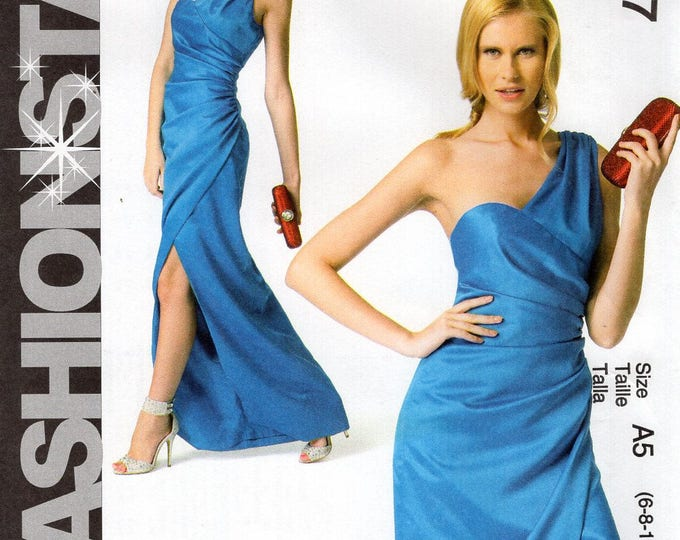 McCall's 6837 Free Us Ship Sewing Pattern Fashion Star Formal Gown Dress Uncut Size 6/14  Plus Bust 30 31 32 34 36  (Last size left)