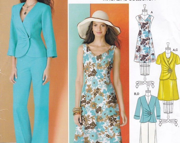 FREE US SHIP Simplicity 1883 Threads Magazine Dress Suit Jacket Skirt Size 16 18 20 22 24 Bust 38 40 42 44 46 New Factory Folded