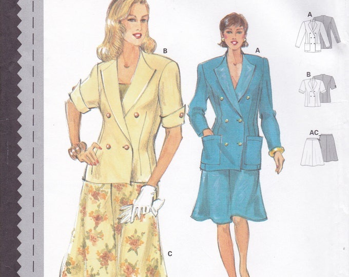 FREE US SHIP Sewing Pattern Burda 3632 Size 10 12 14 16 18 20 Bust 32 34 36 38 40 42 Plus Uncut Suit Jacket Skirt Factory Folded
