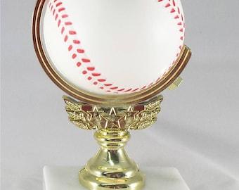 Spinning Baseball Trophy - FREE ENGRAVING