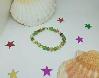 Multicolor Crystal beads elastic bracelet