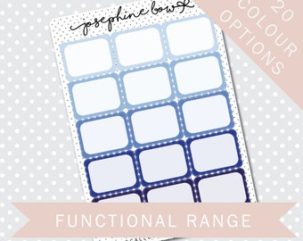 HP SCALLOP 1/2 BOXES - Functional Stickers - Planner Stickers Matt
