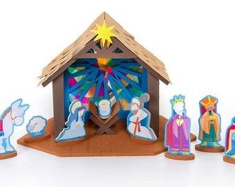 NEW Christmas Nativity Jesus Craft 3D Foam Kit
