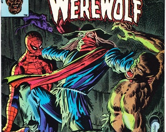 Marvel Team Up 93. Werewolf by Night and Spiderman comic. Birthday Party Gifts, Bronze Age book, Tatterdemalion. 1980 Marvel Comics VF (8.0)