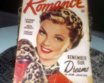 Early mid-century (c. November 1949) Romance magazine published by Fictioneers (aka Popular Publications) in Canada. Complete. Pulp Fiction!