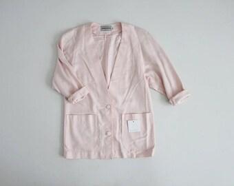 cotton candy pink blazer | oversized blazer | 90s pink blazer