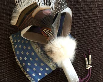 Spirit of Selenite Smudge Fan, smudge feather fan, shaman, shamanic tools, crystal wand, smudging fan, pagan, sage smudge kit, wicca, altar
