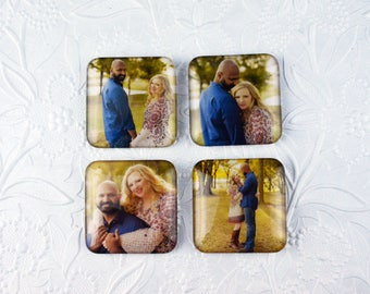 "Personalized Magnets - Set of Four 2x2"" Square   Personalized Gifts Personalized Items Personalized Photo Gifts Photo Gifts Photo Items"