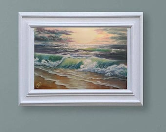 Commission painting Ocean painting Sea oil painting canvas art Commission painting seascape art painting impressionist custom painting art