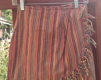 90s boho skirt size 7 vintage