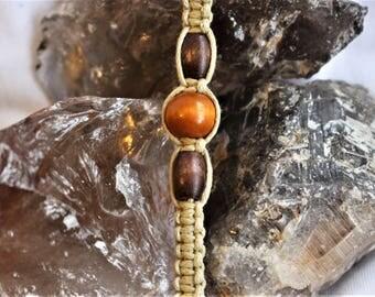 Brown Beaded Handmade Macrame Bracelet