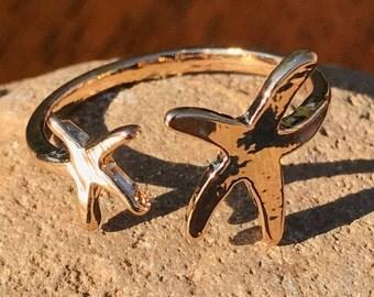Starfish Ring, Gift for Her, Fashion Jewelry, Gold, beach, Starfish