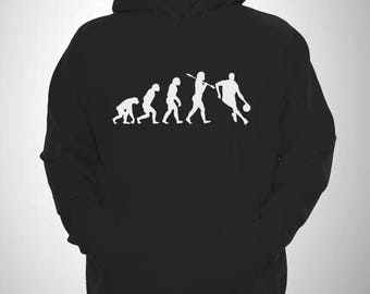 Basketball Evolution of man BBall Dribble Hooded Sweatshirt