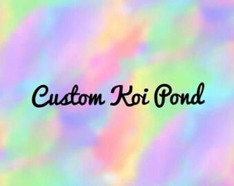 Custom Polymer Clay Koi Pond