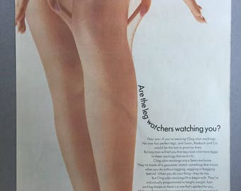 1969 Sears Cling-alon Hosiery Print Ad - Stockings