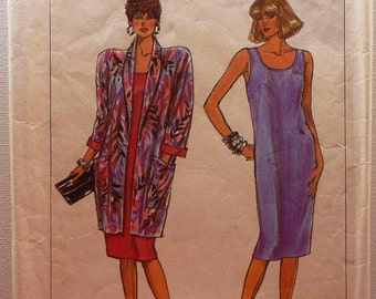 Simplicity Sewing Pattern 7891 Ladies dress and unlined jacket Size 10 - 16 Complete Cut Original Pattern