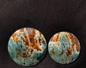 Ultra rare moss agate cabochon