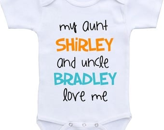 Aunt and uncle gift etsy personalized aunt and uncle baby onesie aunt and uncle gift aunt and uncle onesie aunt and negle Choice Image
