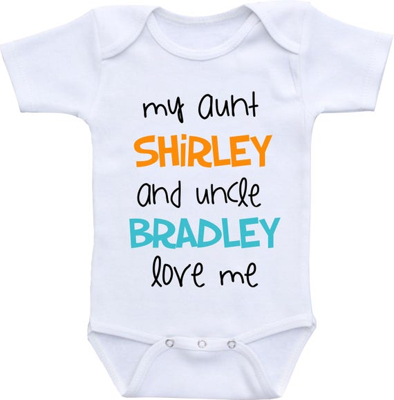 Personalized aunt and uncle baby onesie aunt and uncle gift like this item negle Choice Image