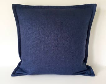 Designer Pillow -  Accent Pillow - Decorative Pillow - Pillow Cover - Navy - Basketweave Throw Pillow