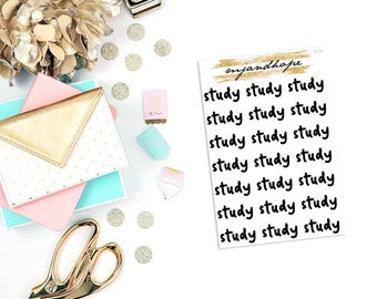 Study Stickers | TT03 | Teeny Tiny Planner Stickers