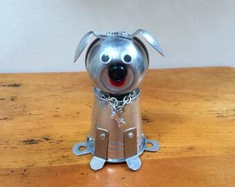 Robot dog, robot, metal dog sculpture, found object dog, assemblage art, assemblage dog, found object art, dog lover gift, Dog