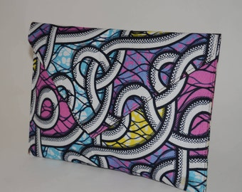 African Print envelope clutch purse