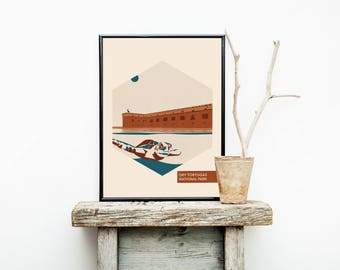National Parks - Dry Tortugas - Geekery Girl Gifts - Travel Poster - Florida  – Wanderlust - Home Decor - Greatest Adventure - National Park