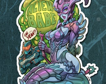 Alien Babe! OH! YEAH!!! Kinky Cuties Sticker