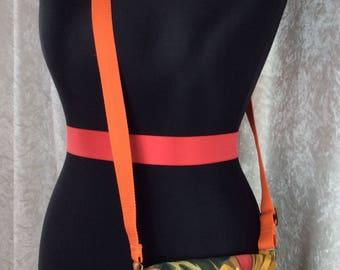 Burlesque Pin Up Mirage Jane Cross Body Bag Fabric shoulder bag purse handbag Alexander Henry handmade in England