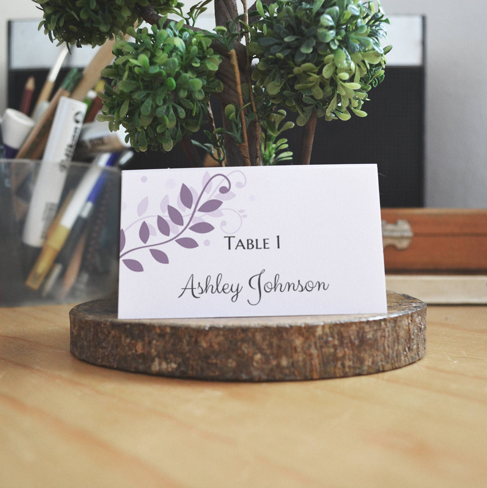 Wedding place cards template Wedding table name card printable