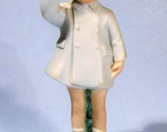 Little John John Kennedy Jr. Salute Signed Ceramic Statue JFK Assassination Funeral Figurine