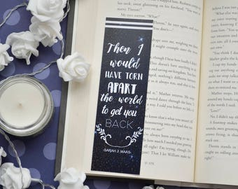 Bookmark Then I would have torn apart the world to get you back 9