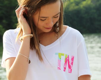 Lilly Pulitzer Shirt - Tennessee Shirt - Gift for Her - Tennessee Tristar Shirt -  Tennessee - Womens Tennessee Shirt - Gift under 25 - Tee