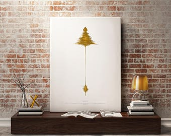 Prophetic Art, Gold Painting, Soundwave