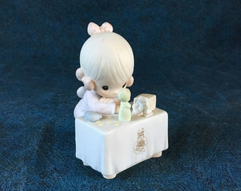 Vintage Precious Moments Figurine,  My Happiness 1989