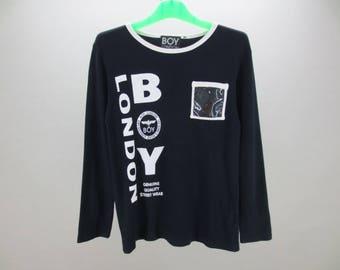 Boy London Shirt Women Size M Vintage Boy London T Boy London Vintage Casual Top Size 160 Made in Japan