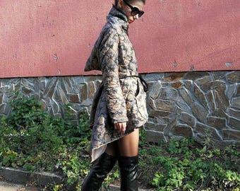 NEW Extravagant Winter Jacket / Warm Winter Camo Jacket / Loose Fit Jacket by FabraModaStudio / FAB804