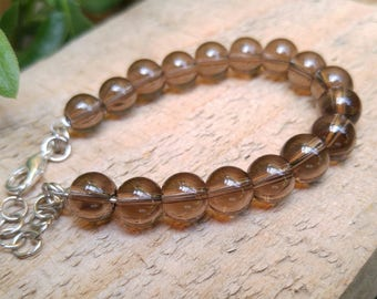 Smokey Quartz Gemstone Bracelet