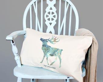 Personalised Arctic Marble Animal Silhouette Cushion - Christmas Family Cushion - Stylish Christmas Pillow