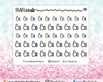 Thumbs Up, Like Stickers, Planner Stickers -026