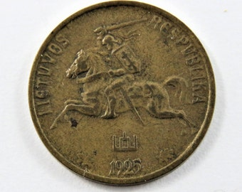 Lithuania 1925 10 Centu Coin.
