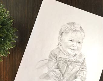 Full Pencil Portrait (1 PERSON)