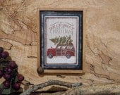 "Magnet: Christmas Unique Primitive Rustic 3"" by 4"" Framed Magnet/Wall Hanging /Ornament Teams  FAAP OFG  WRR"