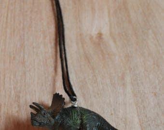 Dinosaur Necklace-Triceratops