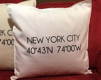 NEW YORK CITY Coordinate 18x18 Pillow Case