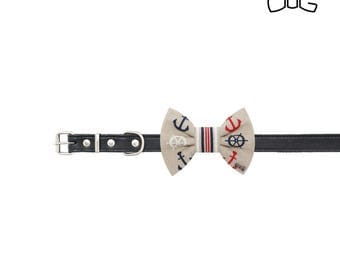 """Sailors dog bow tie - 30% of sales donated to dog shelters """"dog bow tie"""" symbol for animal support"""