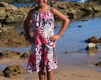 Swing Halter Dress, Girls/Toddler, made on Kauai, Hawaii