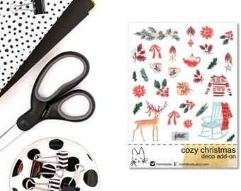Cozy Christmas Add-On Sticker! Perfect for the Erin Condren Life Planner!